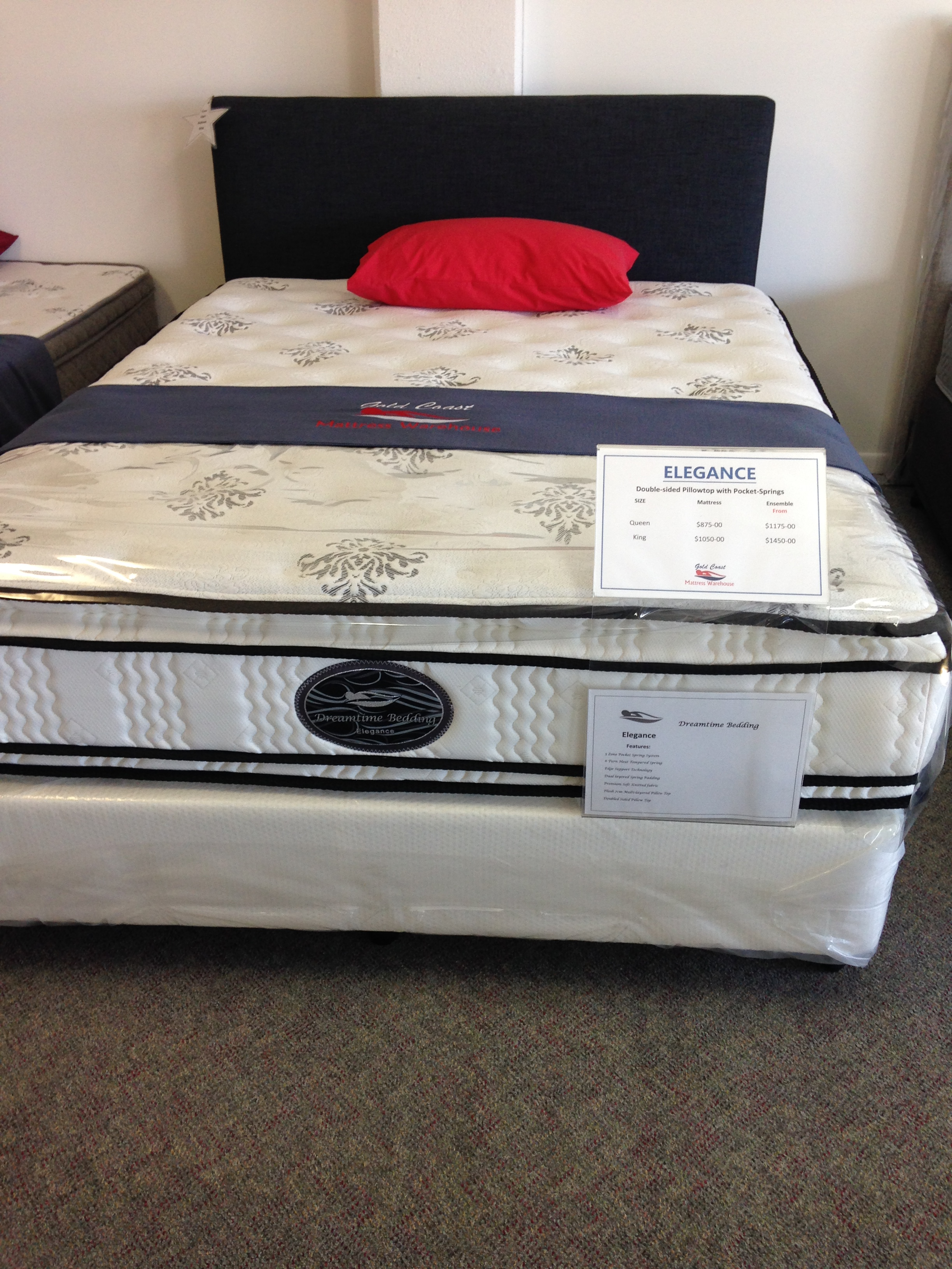 firm back contessa spring us air supporter double seasons bed sided four corner mattress